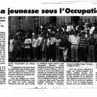 la jeunesse sous l'occupation